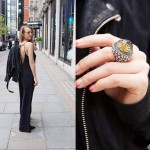 liza urla: Ring by Sevan Bicakci, shades by AVRONE, jacket by The Kooples, jumpsuit by FYI from Brazil