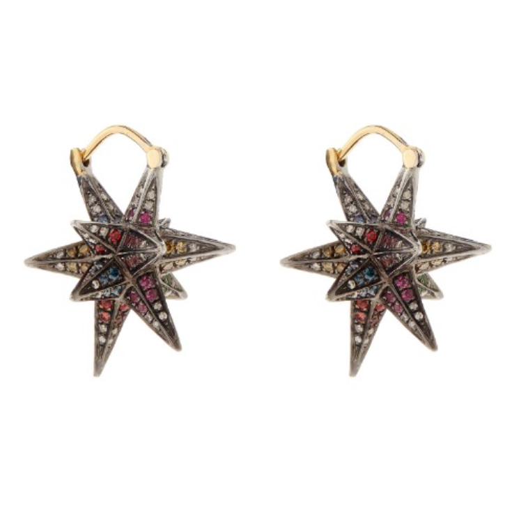 Noor Fares Merkaba diamond earrings