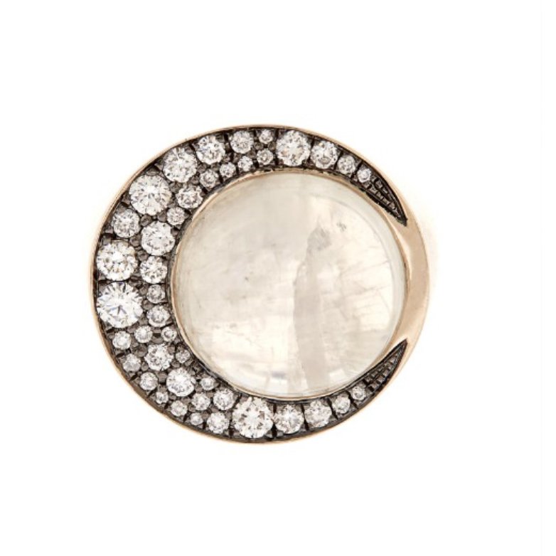 Noor Fares Eclipse moonstone ring