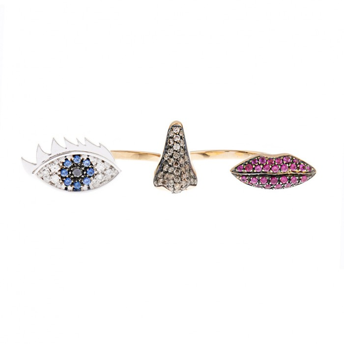 DELFINA DELETTREZ Diamond ring £3,545