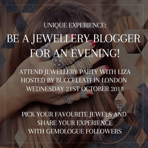 BE A JEWELLERY BLOGGER FOR AN EVENING BUCCELLATI
