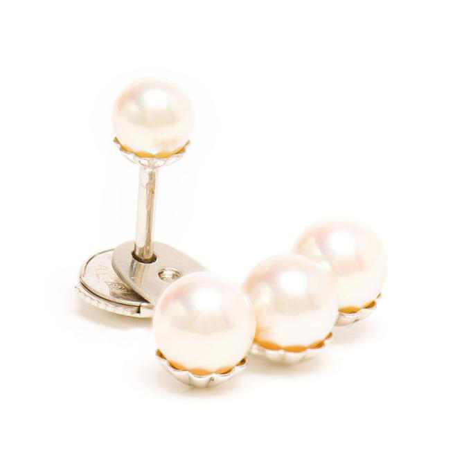 YVONNE LEON 18k Gold and Pearl Stud Earring