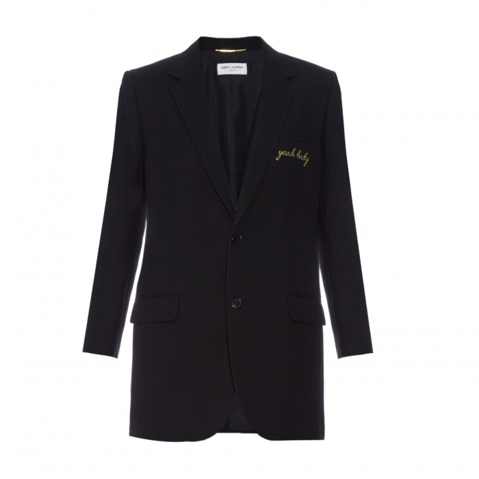 SAINT LAURENT Yeah Baby embroidered jacket