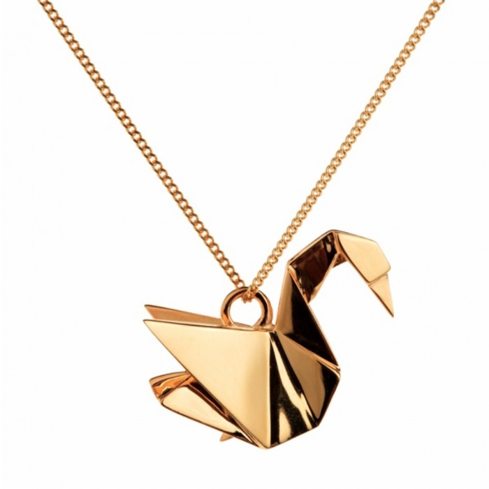 ORIGAMI JEWELLERY Swan Necklace