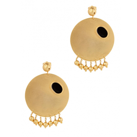 PAULA MENDOZA Sphere gold-plated earrings