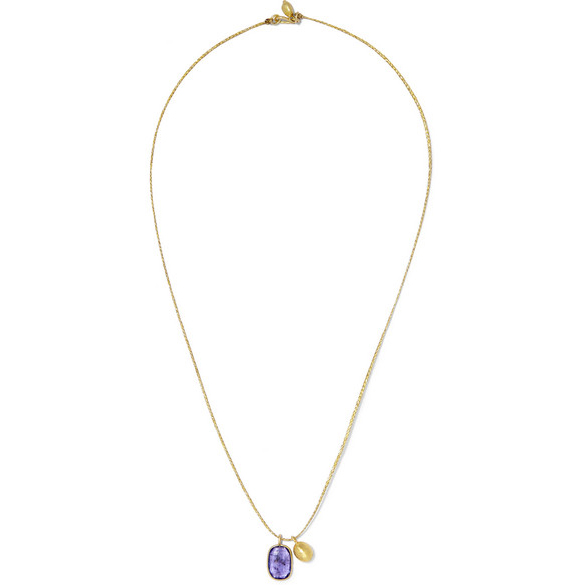 PIPPA SMALL Gold Tanzanite Necklace
