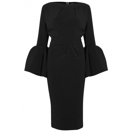 ROKSANDA Margot black crepe dress
