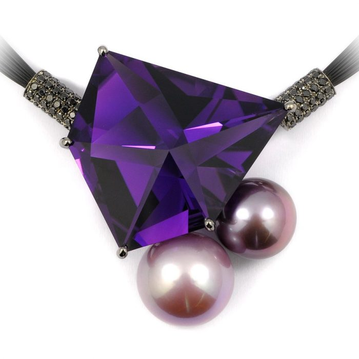 Baer Jewels Pentagonal Amethyst Necklace