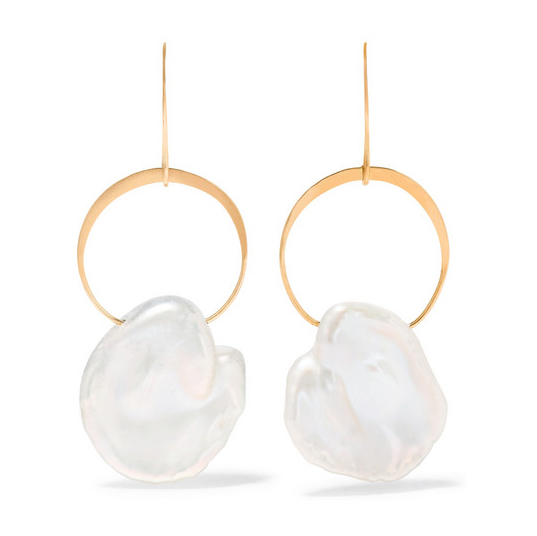 MELISSA JOY MANNING 14K gold pearl earrings