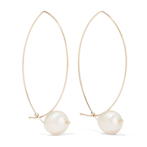 MIZUKI 14K gold pearl earrings