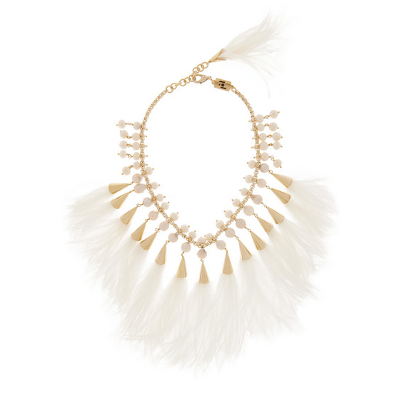 ROSANTICA feather and pearl necklace