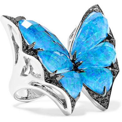 STEPHEN WEBSTER Fly By Night 18-karat white gold multi-stone ring