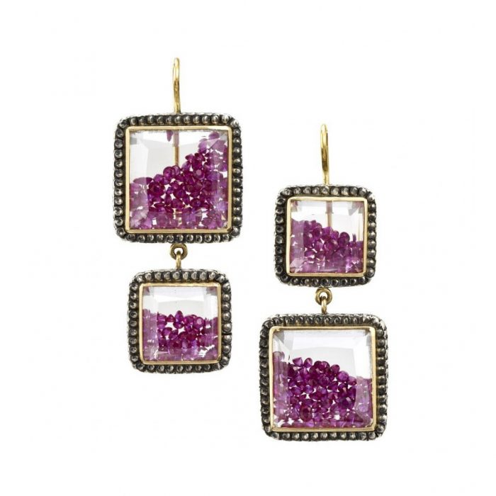 Moritz Glik Ruby Earrings