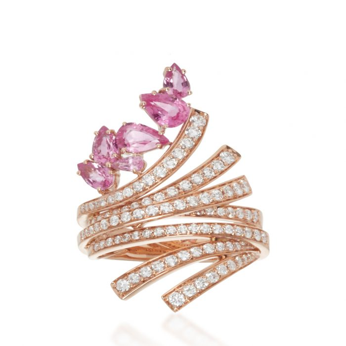 Hueb Rose Gold Mirage Ring
