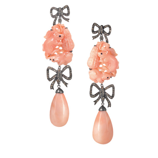 Lydia-Courteille Coral Earrings
