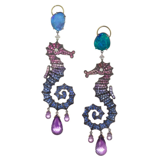 Lydia Courteille Multi-Stone Earrings
