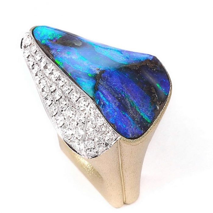 Baer Jewels Australian Boulder Opal Ring