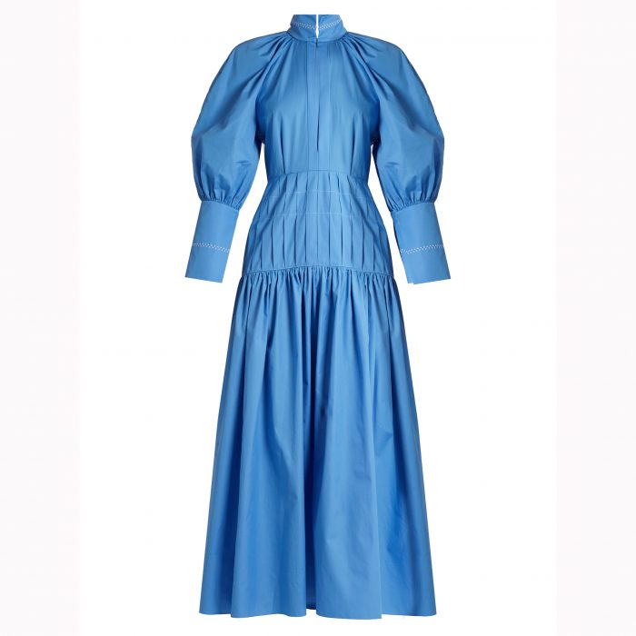 ELLERY Sword bubble-sleeved cotton-blend maxi dress