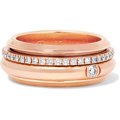 PIAGET rose gold diamond ring
