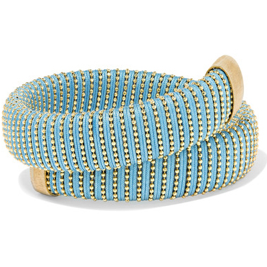 Carolina Bucci Caro Gold-Plated And Cotton Bracelet