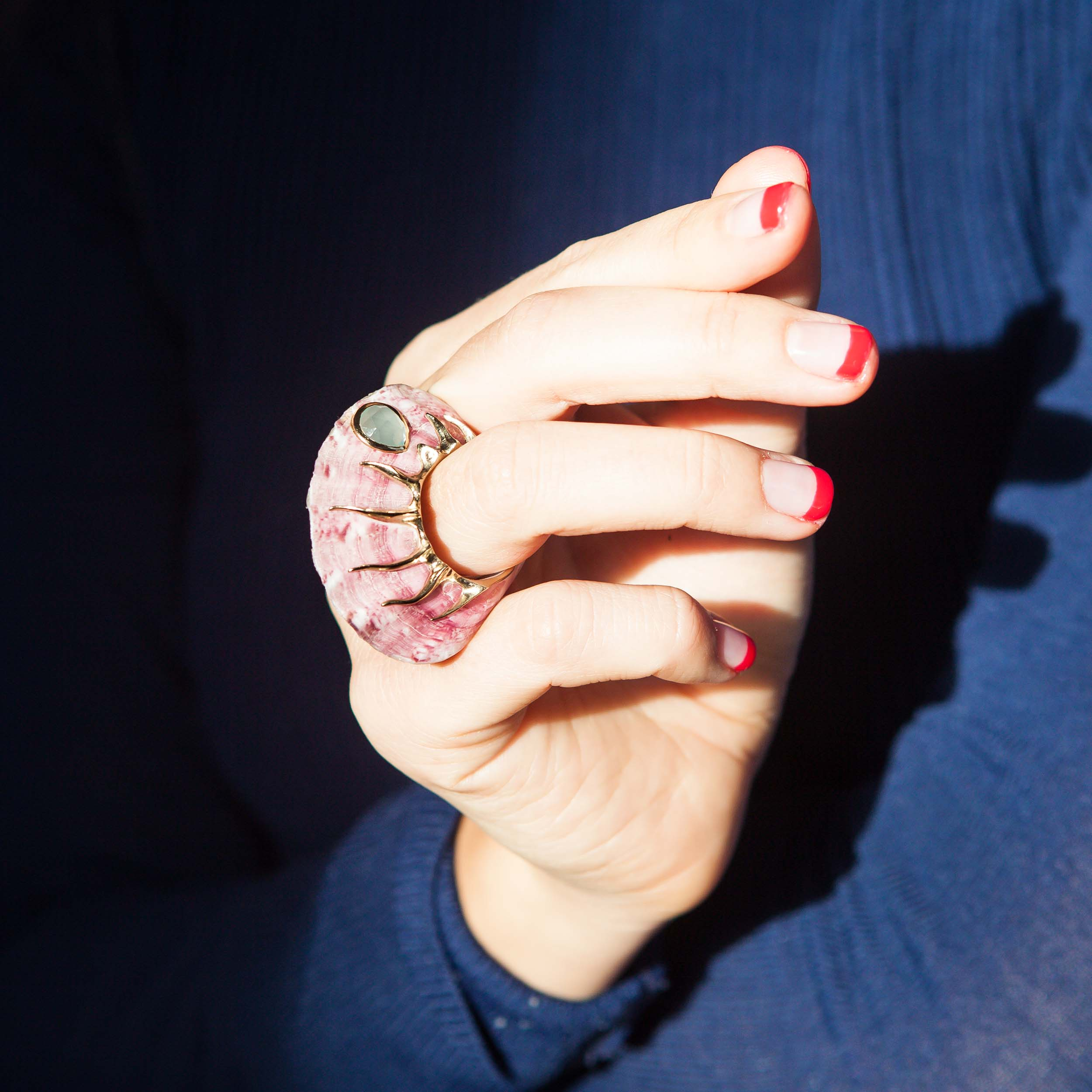 SHAGREEN & TORTOISE PINK DELIGHT SHELL RING REVIEW