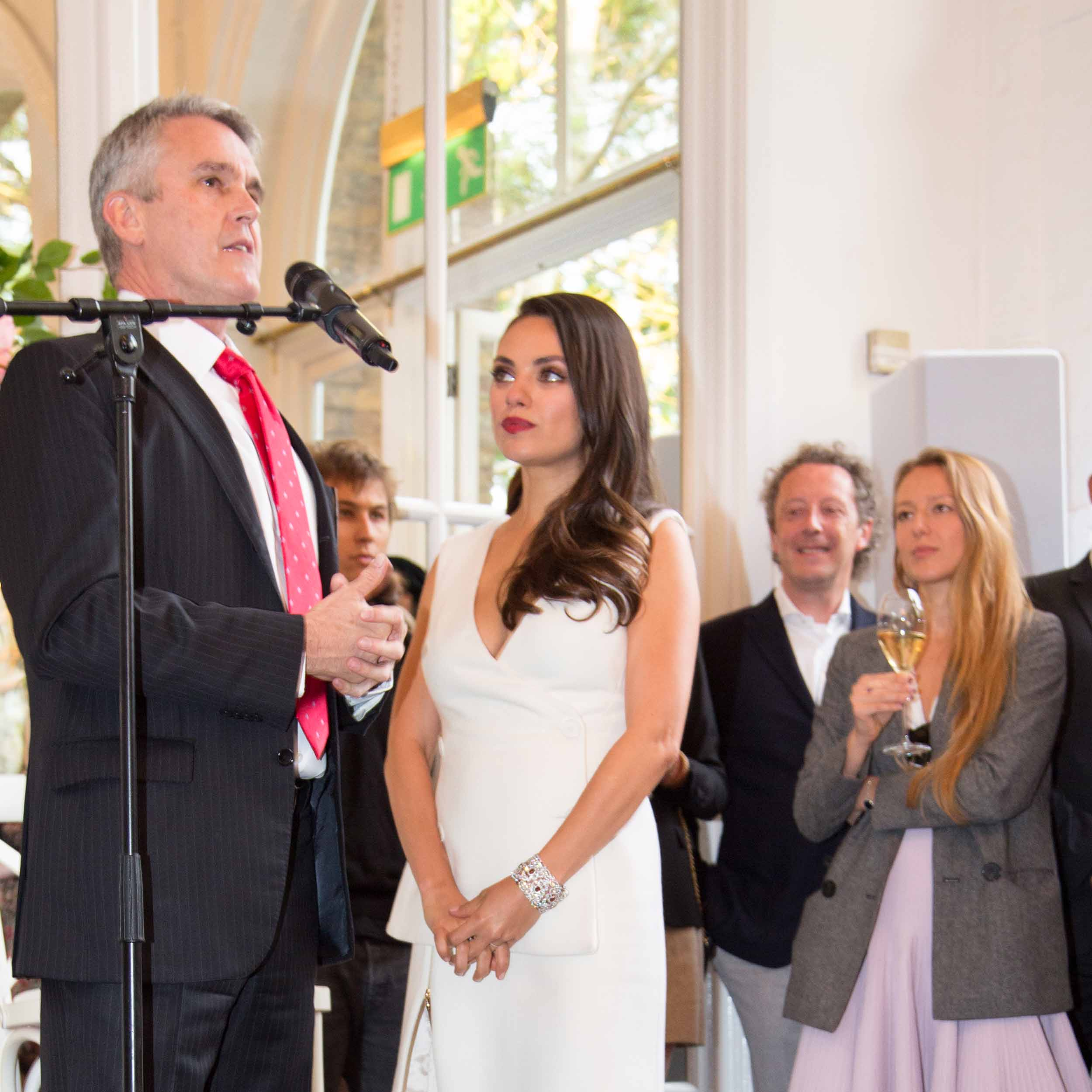MILA KUNIS, THE FACE OF GEMFIELDS, SHINES AT RUBY LAUNCH: THE ORANGERY, HOLLAND PARK LONDON