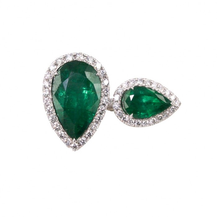 Zambian Emeralds Ring, $11,700