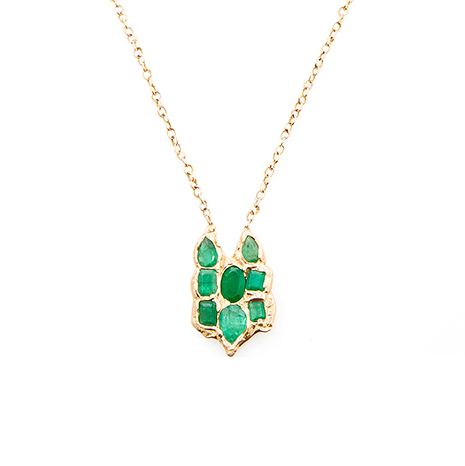 Lucifer Vir Honestus Emerald Necklace $15,370