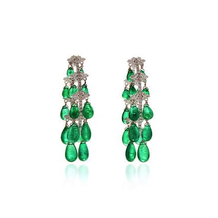 Giovane Emerald Earrings $66,645