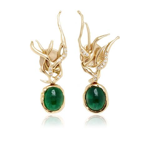 Lucifer Vir Honestus Emerald Earrings $11,960