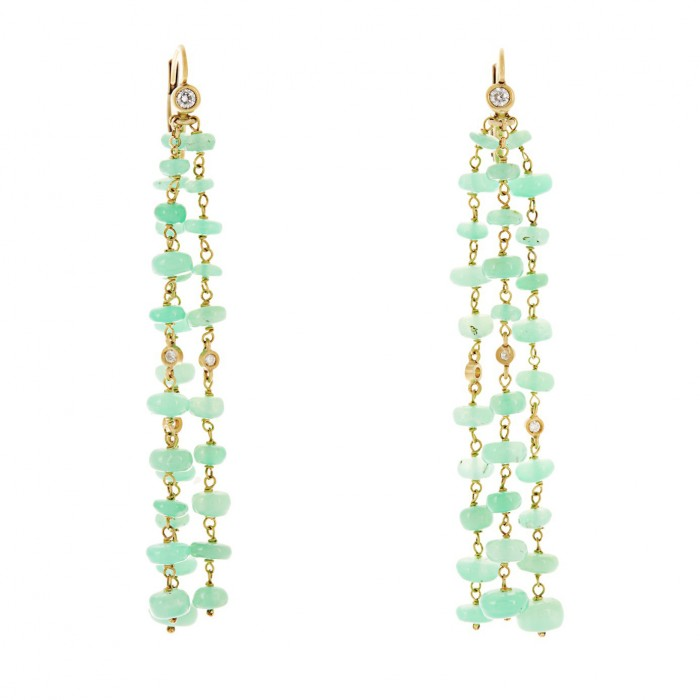 MAURIZIO PINTALDI chrysoprase earrings £4,500
