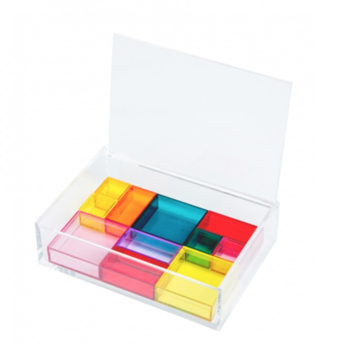 Multicoloured Acrylic Jewellery Box £50