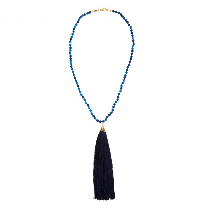 ROSANTICA BY MICHELA wood and quartz necklace £260