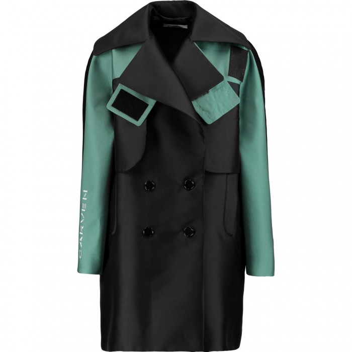 CARVEN Two-tone satin-twill coat £312