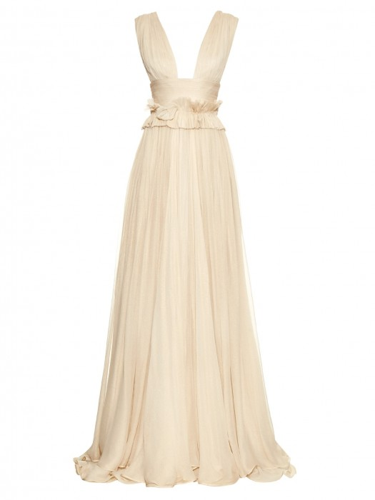 MARIA LUCIA HOHAN Kamalame silk-mousseline gown