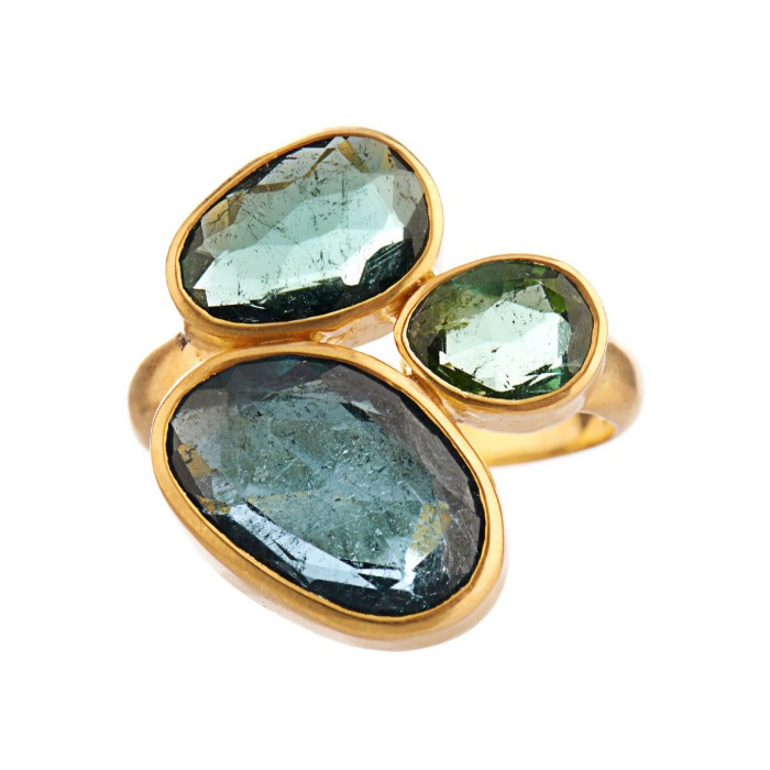 PIPPA SMALL Tourmaline & yellow-gold ring