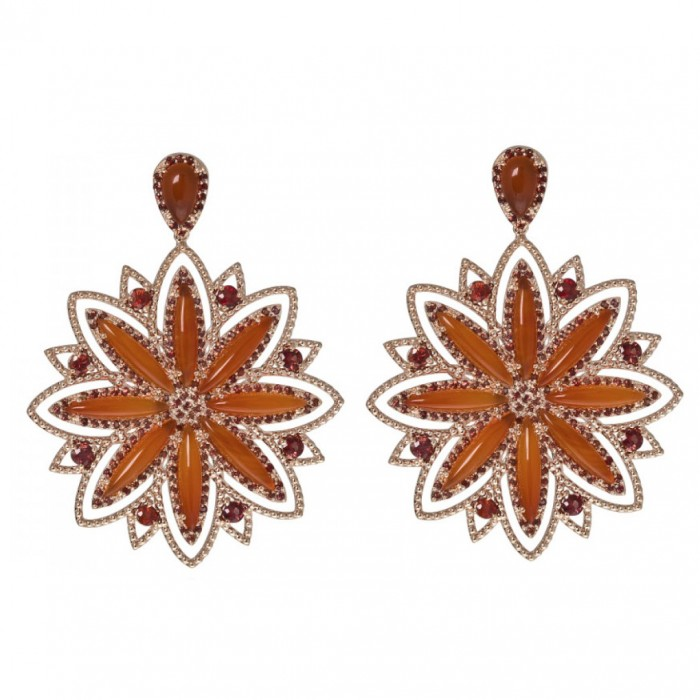 Carla Amorim Cornelian Earrings