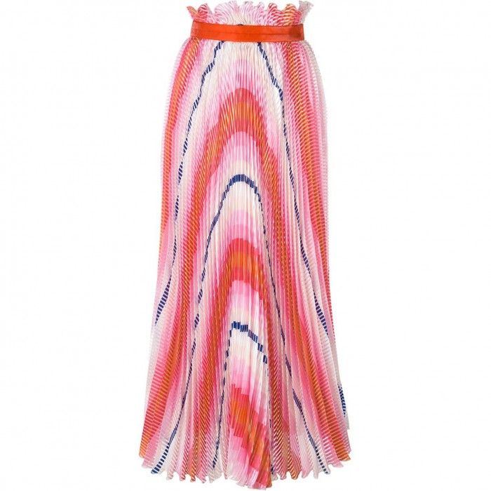 DAIZY SHELY  pleated maxi skirt