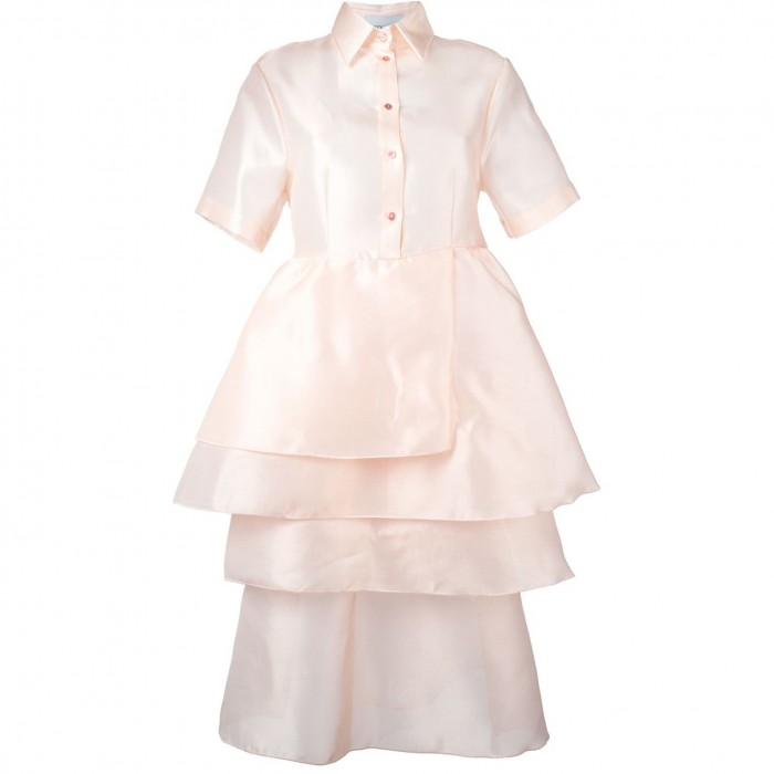 DAIZY SHELY  tiered shortsleeved shirt dress