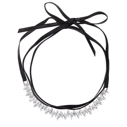 FALLON Monarch leather wrap choker