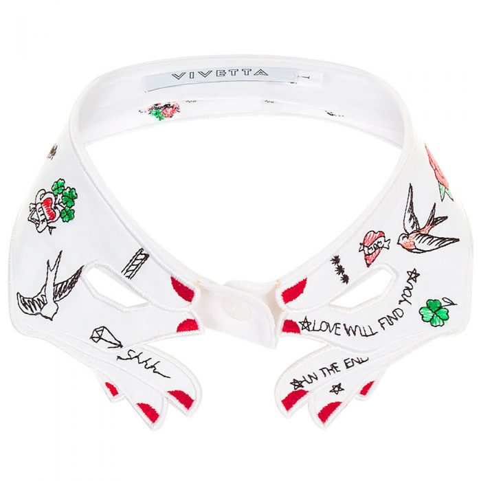 VIVETTA Embroidered Aisa Collar