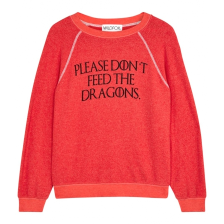 WILDFOX Kim's red fleece sweatshirt