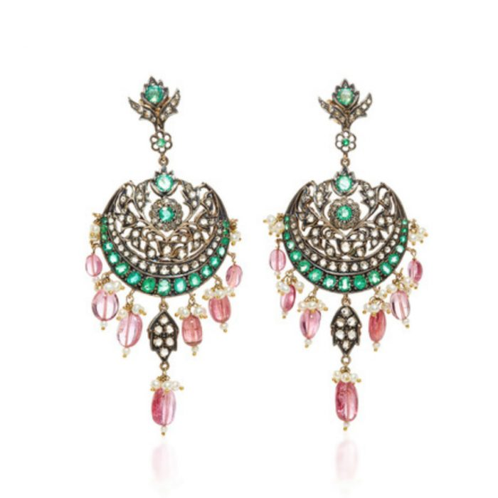 AMRAPALI Diamonds & Emeralds Earrings