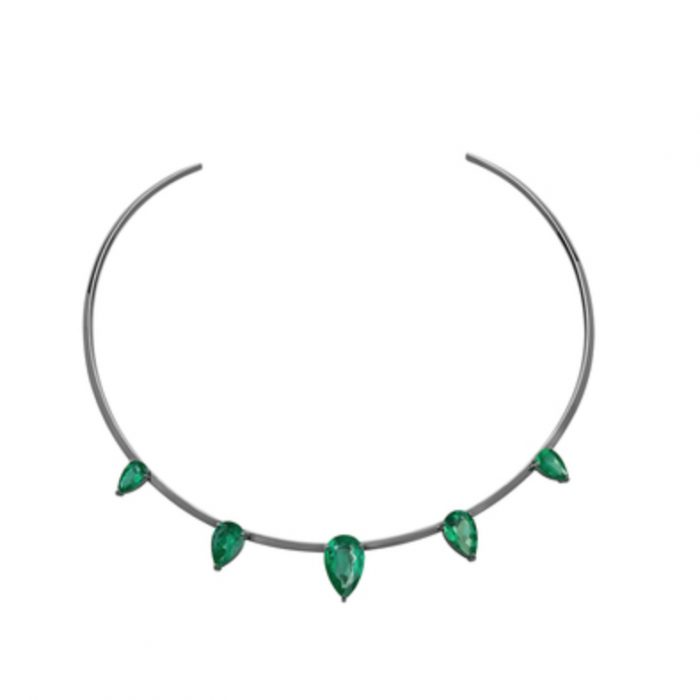 JACK VARTANIAN 18K Gold Emerald Necklace