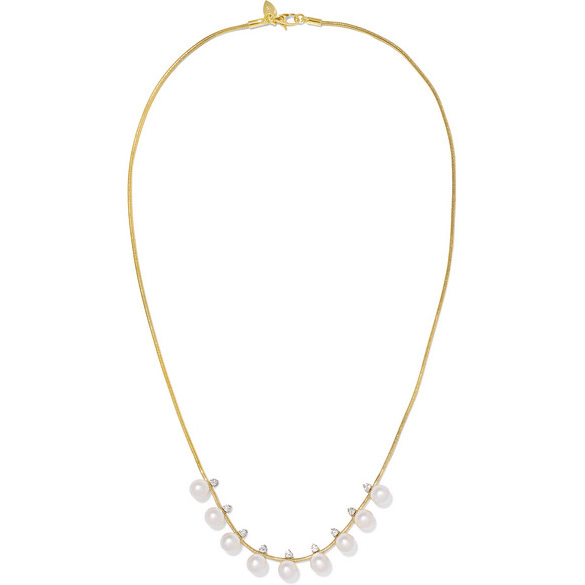 JEMMA WYNNE 18K Gold, Pearl And Diamond Necklace
