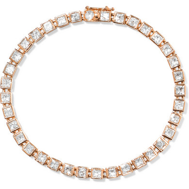 TIFFANY & CO T Tennis 18K Rose Gold Diamond Bracelet
