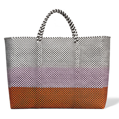 TRUSS Simple woven raffia-effect tote