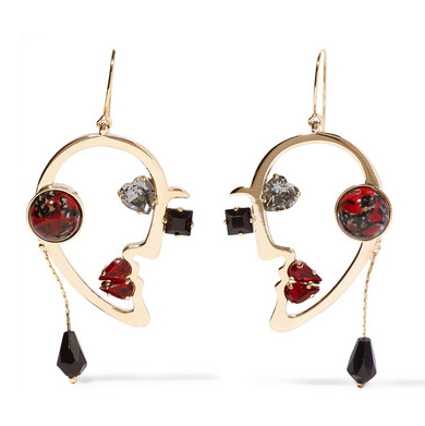 ETRO Gold-plated multistone earrings