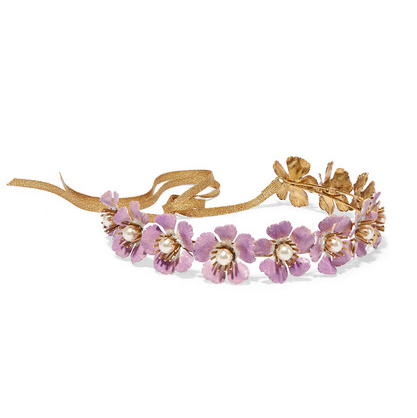 JENNIFER BEHR Pearl and enamel headband