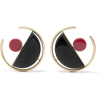 MARNI Gold-plated acrylic earrings